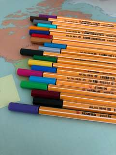 Stabilo point 88 Color point pens