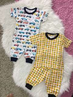 2 sets baby pyjamas cotton size 9-12 months