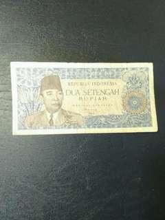 Dua Setengah Rupiah Seri Soekarno Borneo-1961