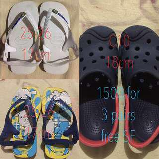 SALE!!!! Auth Havaianas and Crocs for Toddler