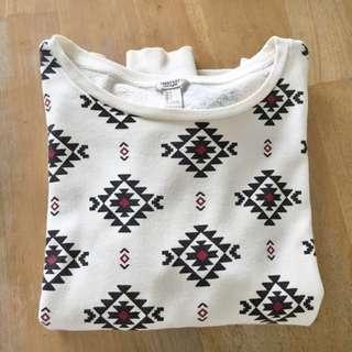 F21 Aztec Tribal Pullover