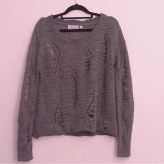 distressed knit