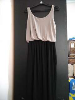 Two tone long dress