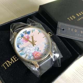 全新 Ted Baker flora pattern watch / 花花真皮錶 / 甜美 / 女朋友生日禮物