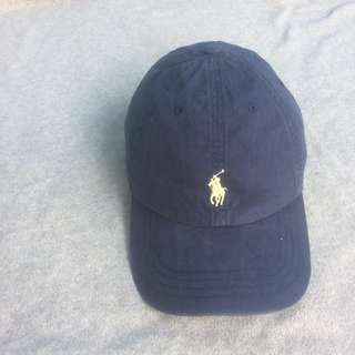 POLO BY RALPH LAUREN CAP SPORT NAVY LOGO YELLOW