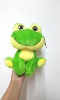 Frog stuffed toy