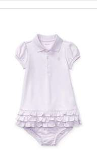 Authentic Ralph Lauren baby Ruffled Polo Dress #July70