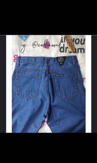 Punny MOM BF Jeans in Faded Blue: Size XL
