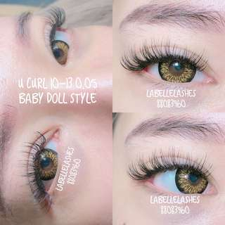 |Labellelashes| Baby doll style eyelash extensions