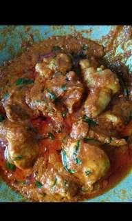 Untuk tempahan rendang ayam, daging