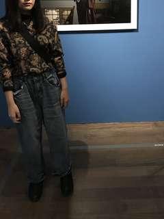 🚚 深藍直筒牛仔褲