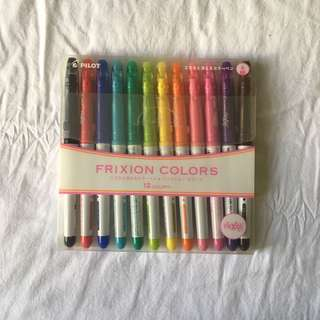 Frixion Color Erasable Markers - 12 pieces