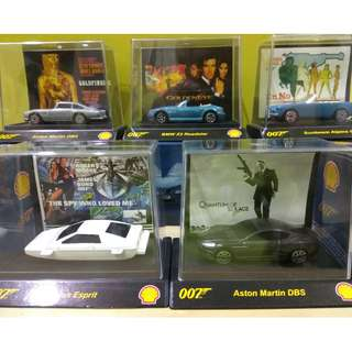 2008 Shell 007 James Bond Car Full Set x5 Collection