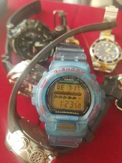 古董 透明版 g-shock DW 6600 冇盒