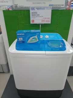 Kredit mesin cuci denpo free setrikaan cukup bayar 199 ribu