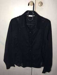 🌈Pre-loved Black Knitted Longsleeves
