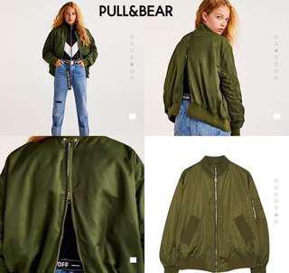 Pull&bear bomber jacket (army)