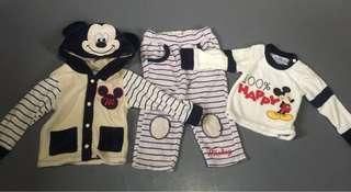 0-3mos Pajama, Jacket and Longsleeve