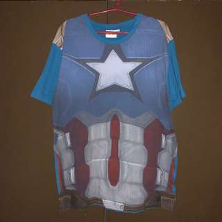 Pre-loved Captain America Civil War Movie Merch T-shirt