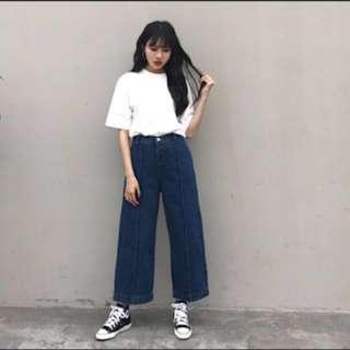 denim cullotes jeans