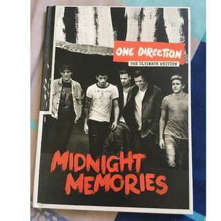 One Direction Midnight Memories yearbook edition