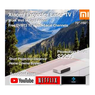 """Xiaomi Laser Projector TV 4k 70""""-150"""" Build in Mitv Box (Ready Stock) Free Local Channels"""