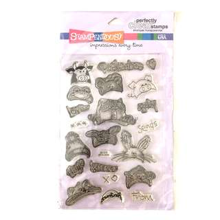 Stampendous peek a boo baby cling clear rubber stamp set