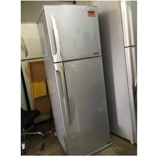 Fridge Freezer Small Toshiba Peti Sejuk Silver Ice Ais Refrigerator Refurbish Recondition
