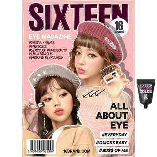 Sixteen eyeshadow magazine