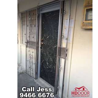 HDDoor the Laminate main door and mild steel gate with install