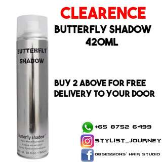 Clearence Sale Hairspray Butterfly Shadow 420ml
