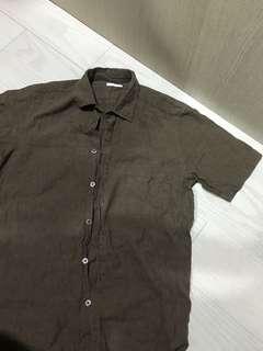 🚚 GU墨綠襯衫(含運)
