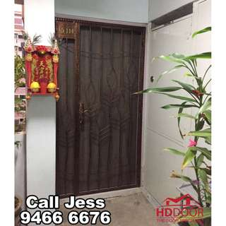 HDDoor the Laminate main door and Mild steel gate with one Key