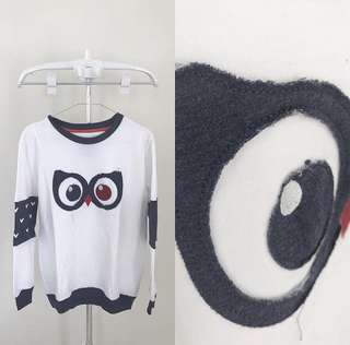 Owl long sweater