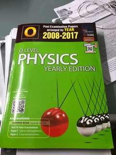 Physics o level year edition