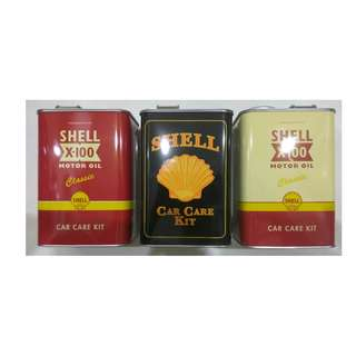 125th shell anniversary car care kit large canister x3