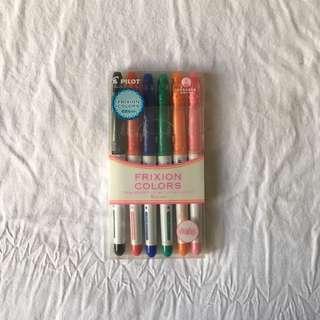 Frixion Pastel Colors Erasable Markers — 6 pieces
