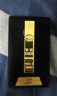 金條造型打火機 USB充電