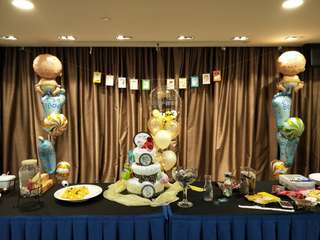 Baby shower balloon deco