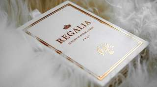 White Regalia Playing Cards by Shin Lim