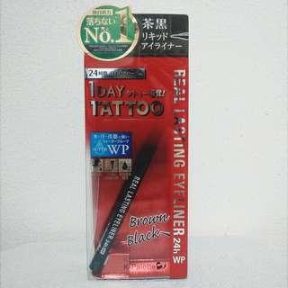 New K-Palette 1 Day Tattoo Real Lasting Eyeliner in Brown Black
