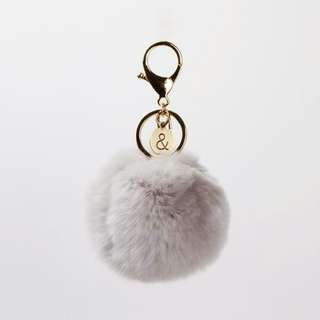 Belle and Bloom Grey Pom Pom Keychain