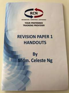 🚚 RES Revision Paper 1 Handout by Mdm Celeste Ng RCN