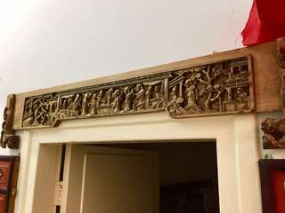 Antique Chinese Wood Banner