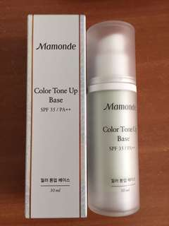 Free mail! BNIB Mamonde Color Tone Up Base with SPF35 30ml