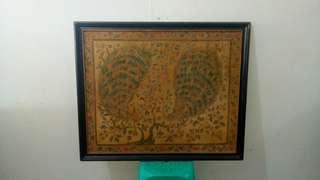 Lukisan frame kayu