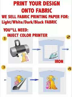 Print in fabric special paper (inkjet printer )