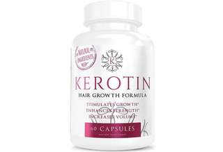 [IN-STOCK] Kerotin Hair Growth Vitamins for Natural Longer, Stronger, Healthier Hair - Enriched with Vitamin B, Biotin, Folic Acid - Promotes Long, Frizz-Free, Keratin Rich Hair - Works on All Hair Types