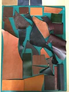 🚚 30 pcs leather scraps