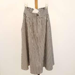🚚 ⭐全新品⭐黑白條紋高腰圓裙/傘裙